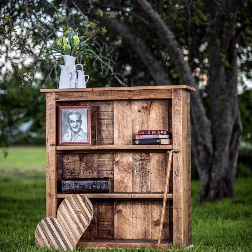 Antique Pallet Bookcase