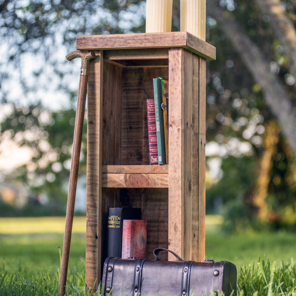 Antique Pallet Small Bookcase