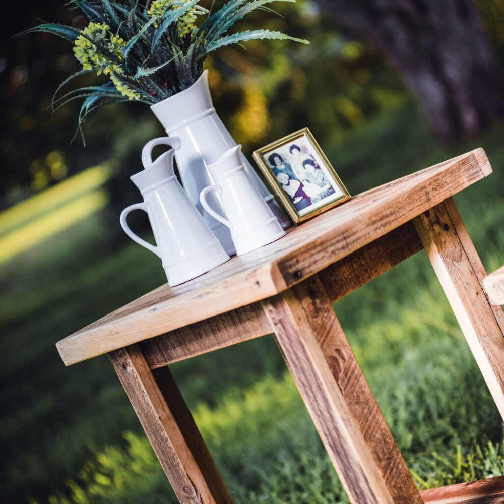 Antique Pallet Side Table